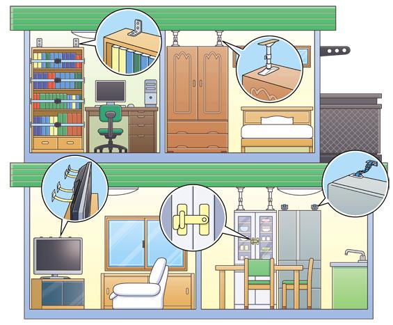 家具 地震 対策