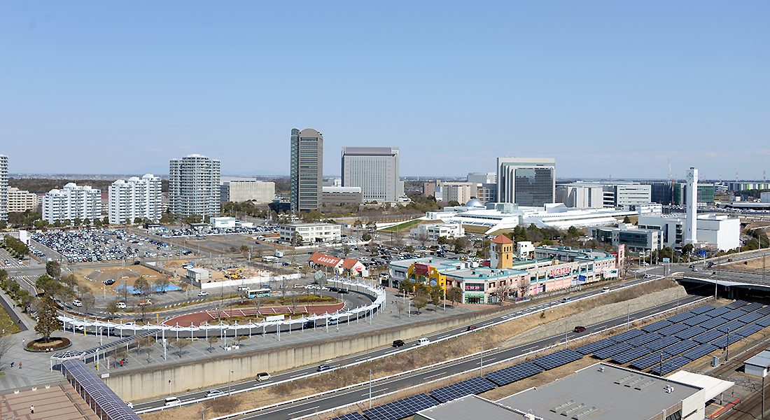 Cityscape around Chiba New Town Chuo Station